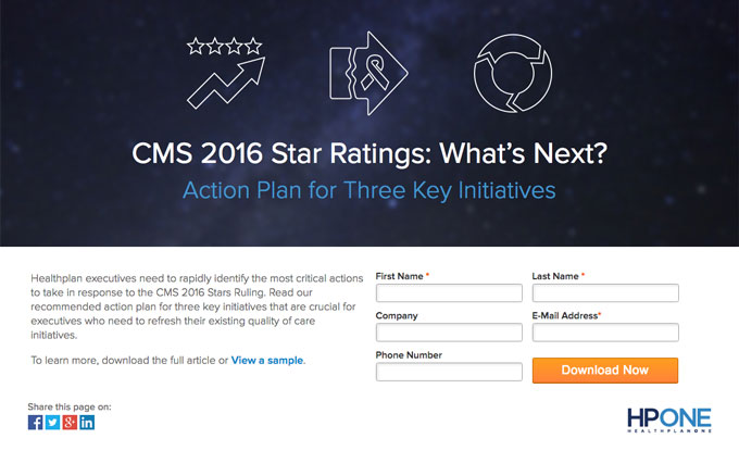 HPOne Stars Action Plan 2016 Ratings